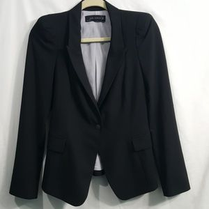 Zara Woman black one button blazer